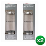 SodaStream Carbonating-Bottle-1 Liter-Stainless Steel (4 Pack Sodastre