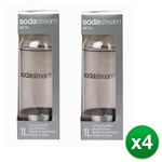 SodaStream Carbonating-Bottle-1 Liter-Stainless Steel (8 Pack Sodastre